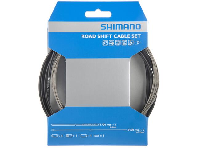 Shimano OT-SP41 Set de câble de dérailleur vélo de route acier inoxydable, black
